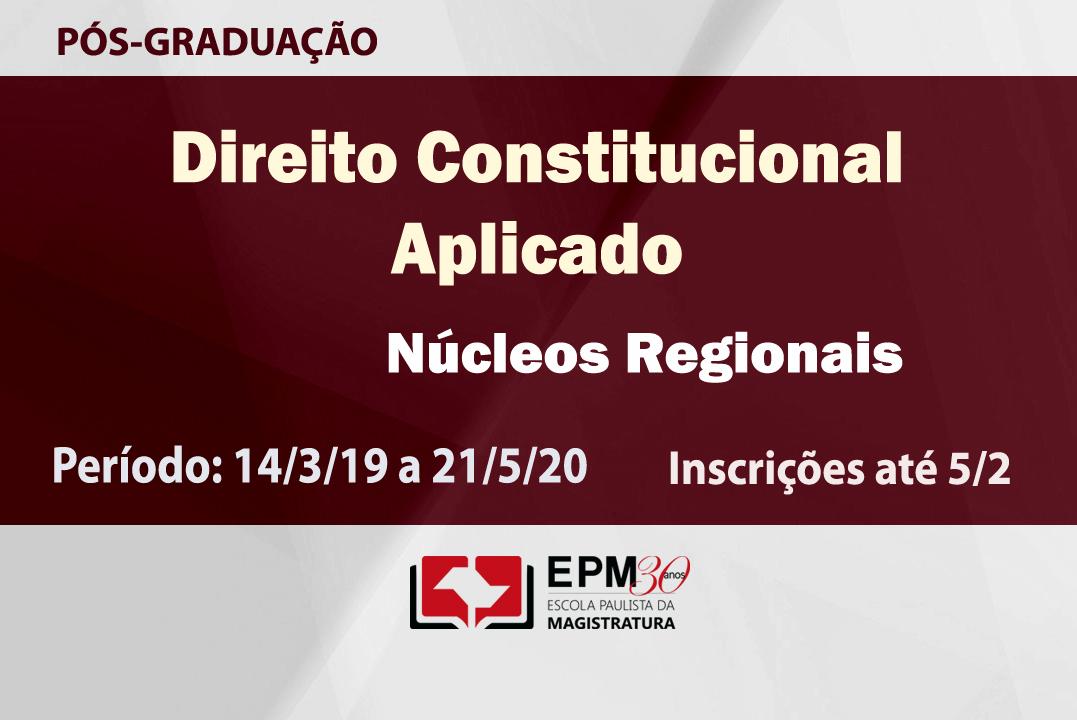 EPM realizará cursos de especialização em Direito Constitucional Aplicado em 16 comarcas dos núcleos regionais