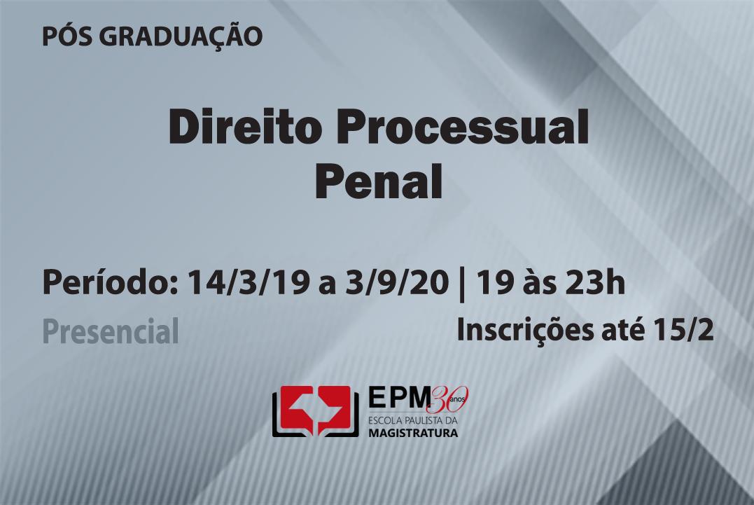 EPM realizará novo curso de especialização em Direito Processual Penal