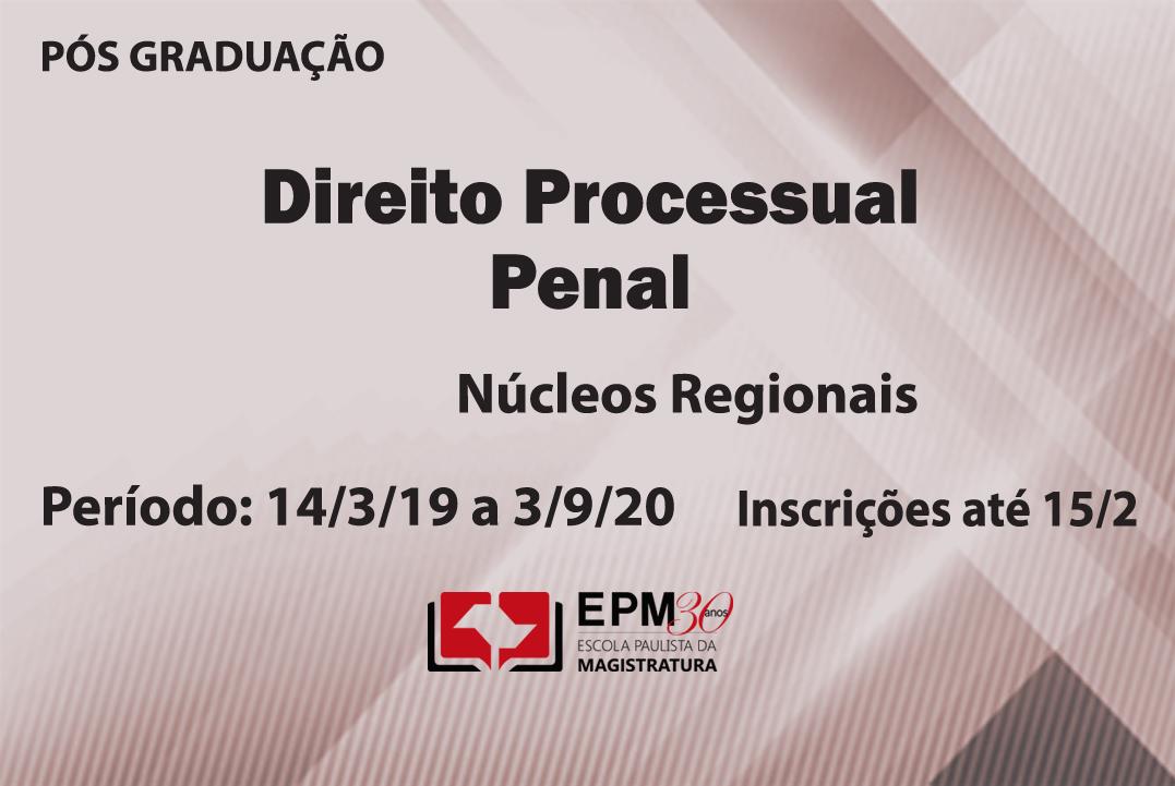 EPM realizará cursos de especialização em Direito Processual Penal nas comarcas de Birigui e Sorocaba