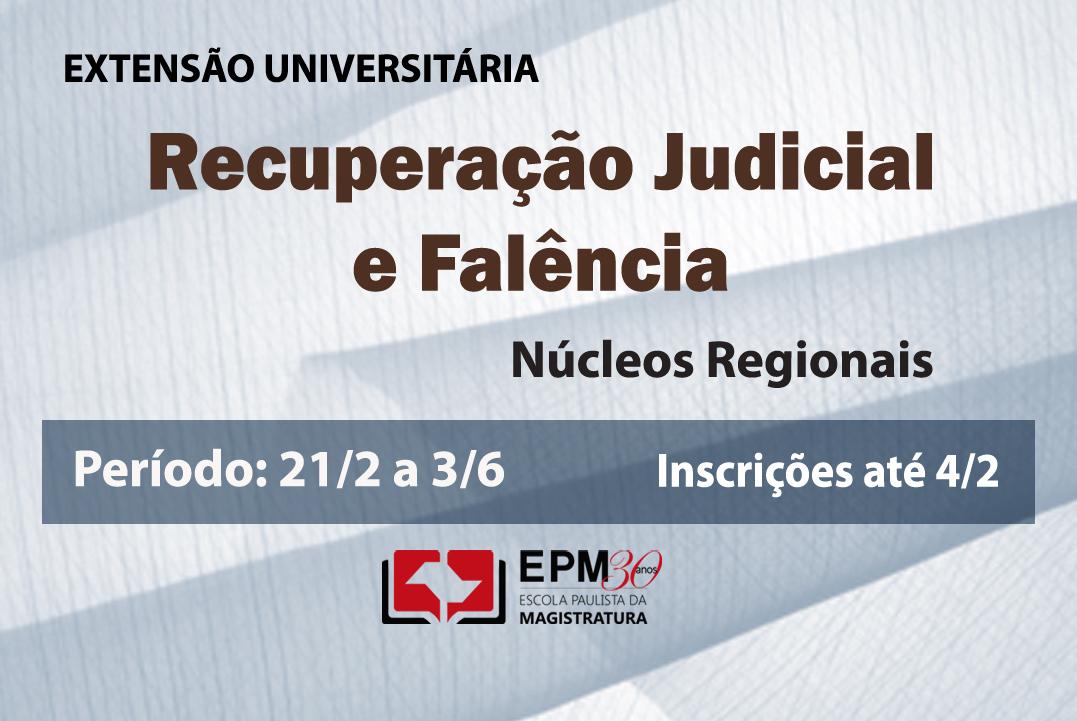 EPM realizará cursos de extensão universitária em Recuperação judicial e falência em cinco núcleos regionais