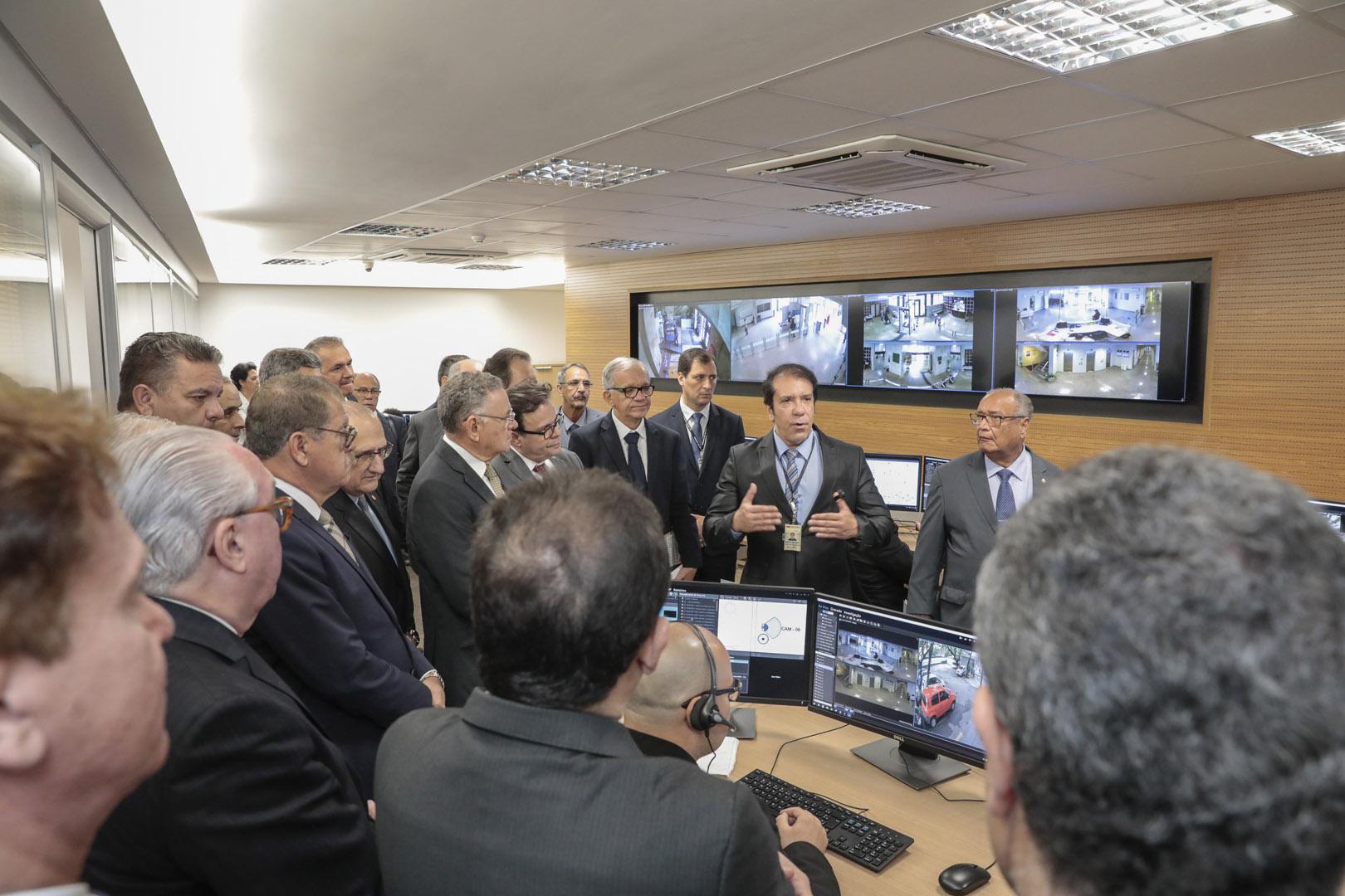 Presidentes de Tribunais conhecem sistema integrado de segurança do TJSP