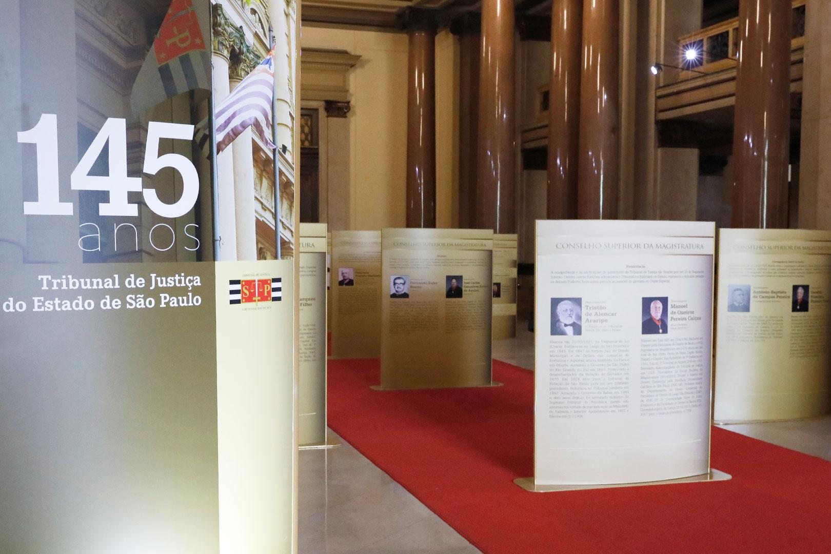 Programação de exposições em fóruns do interior no mês de maio