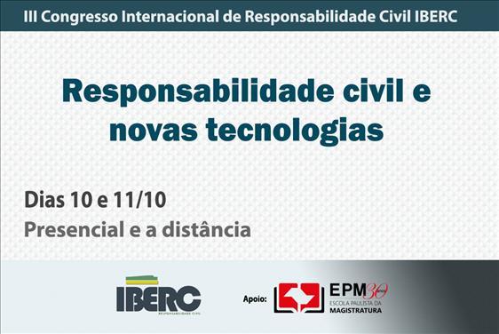 III Congresso Internacional de Responsabilidade Civil do IBERC será realizado na EPM em outubro