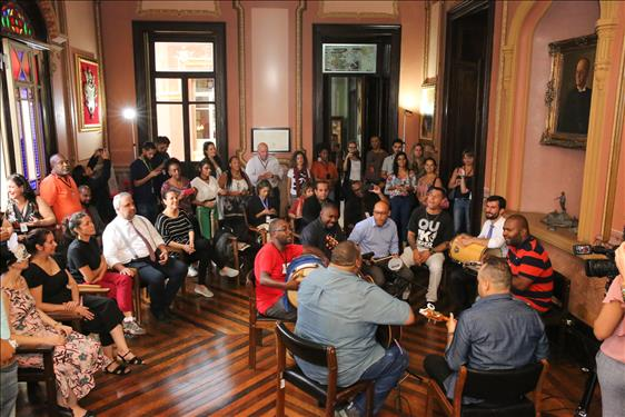 Samba e cultura no Museu do Tribunal