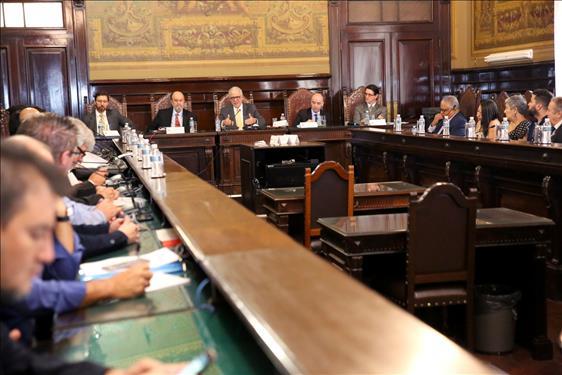 Presidente Pinheiro Franco recebe os representantes das entidades dos servidores