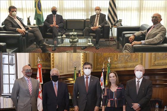 Judiciário se reúne com Poderes Executivo e Legislativo