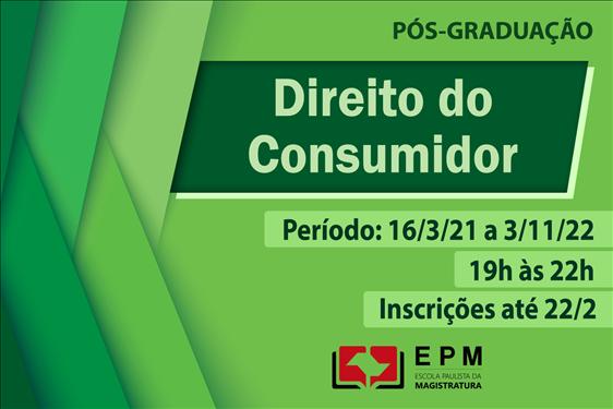 EPM realizará novo curso de especialização em Direito do Consumidor