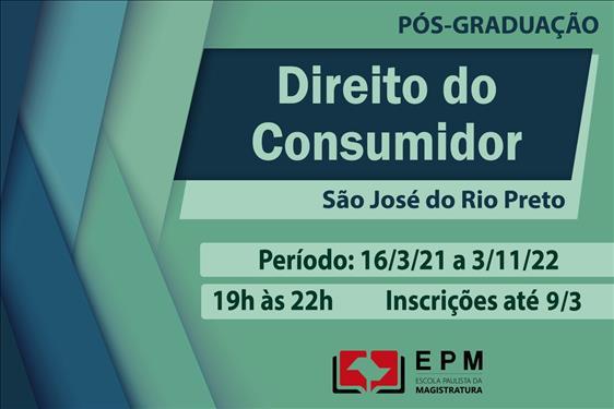 EPM realizará curso de especialização em Direito do Consumidor em São José do Rio Preto