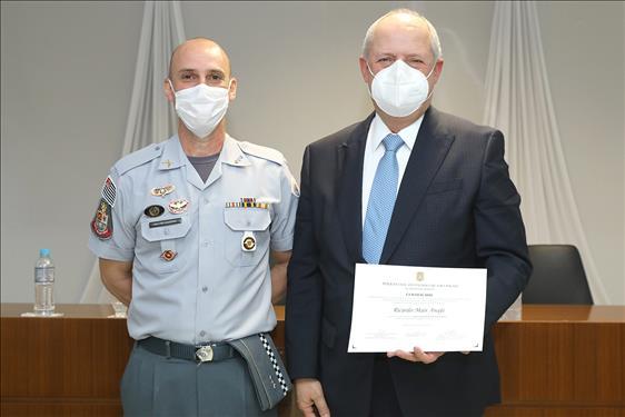 """Corregedor-geral da Justiça profere palestra na Academia de Polícia """"Dr. Coriolano Nogueira Cobra"""""""