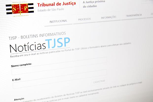 Receba notícias do TJSP por e-mail