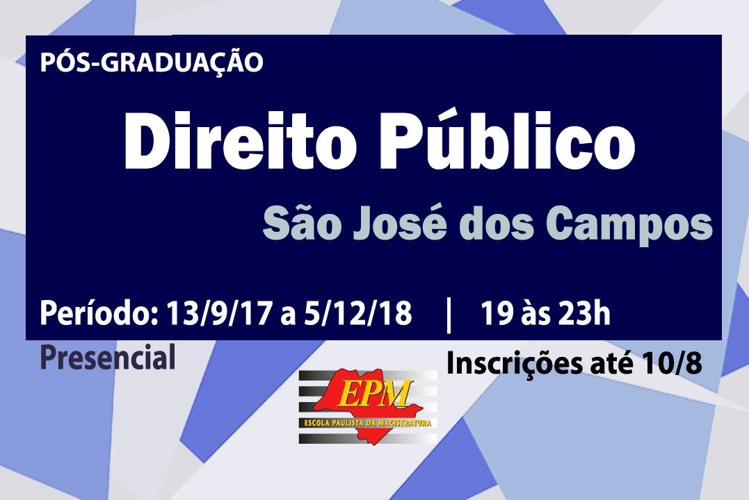 EPM promoverá curso de especialização em Direito Público em São José dos Campos