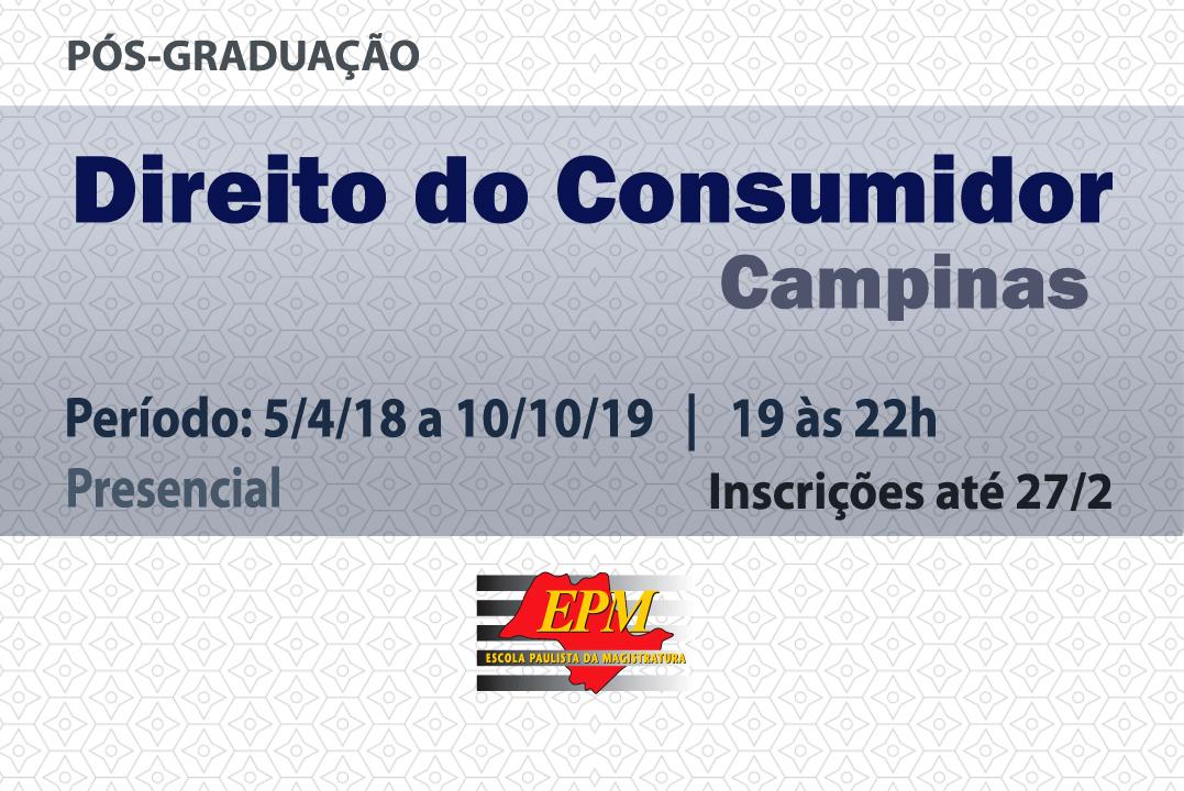 EPM realizará curso de especialização em Direito do Consumidor em Campinas