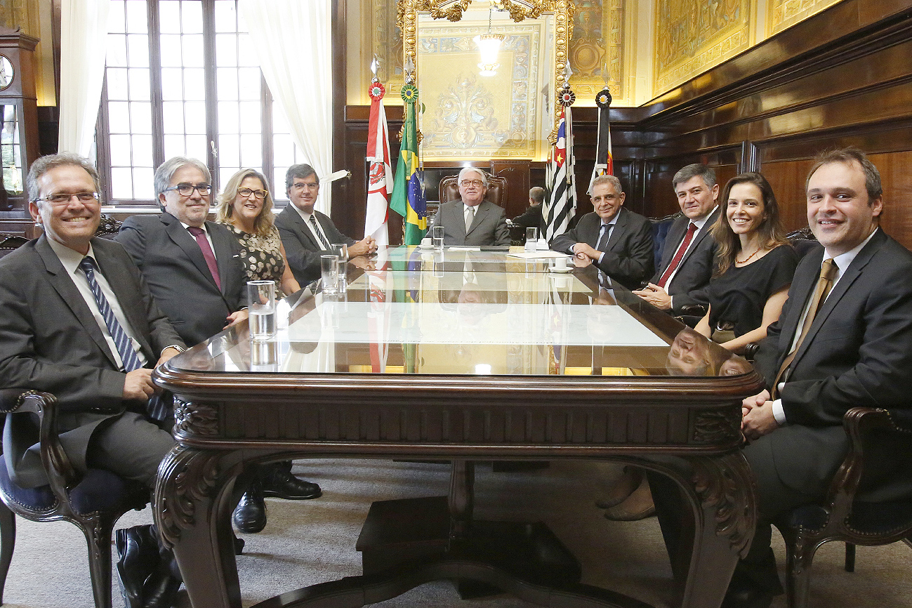Integrantes da diretoria da EPM reúnem-se com o presidente do TJSP