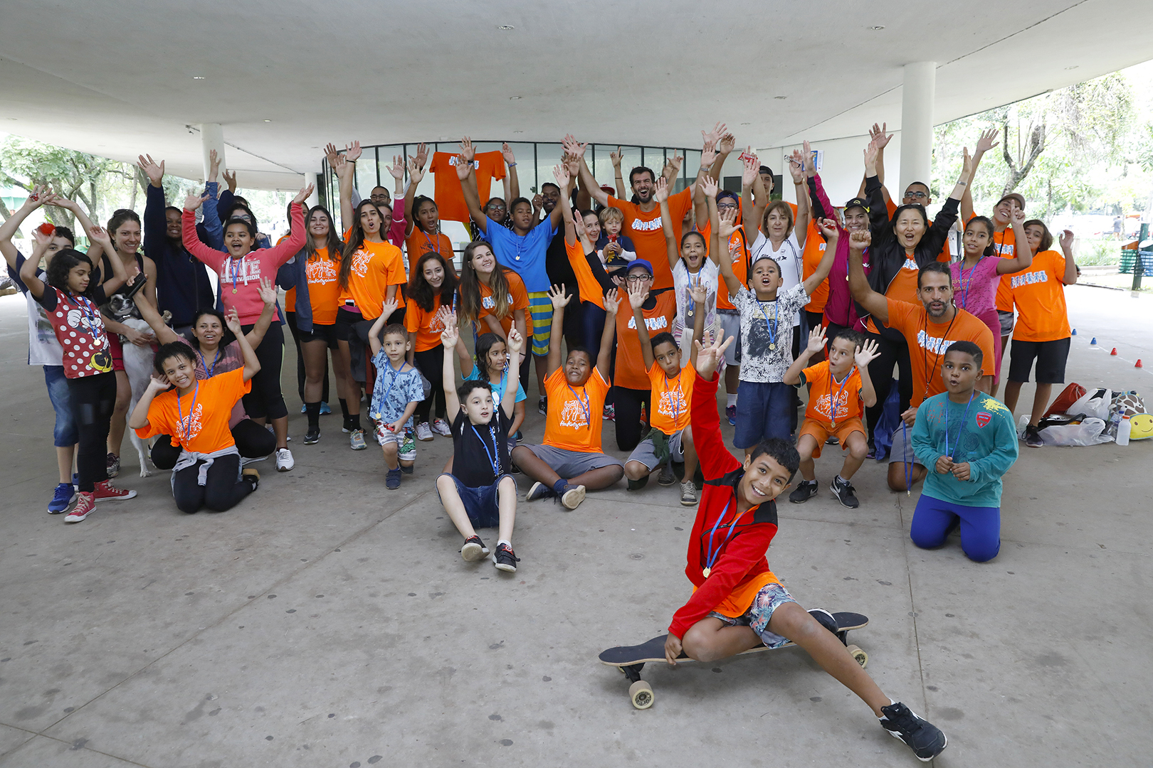 Jovens acolhidos participam de corrida no Parque Ibirapuera