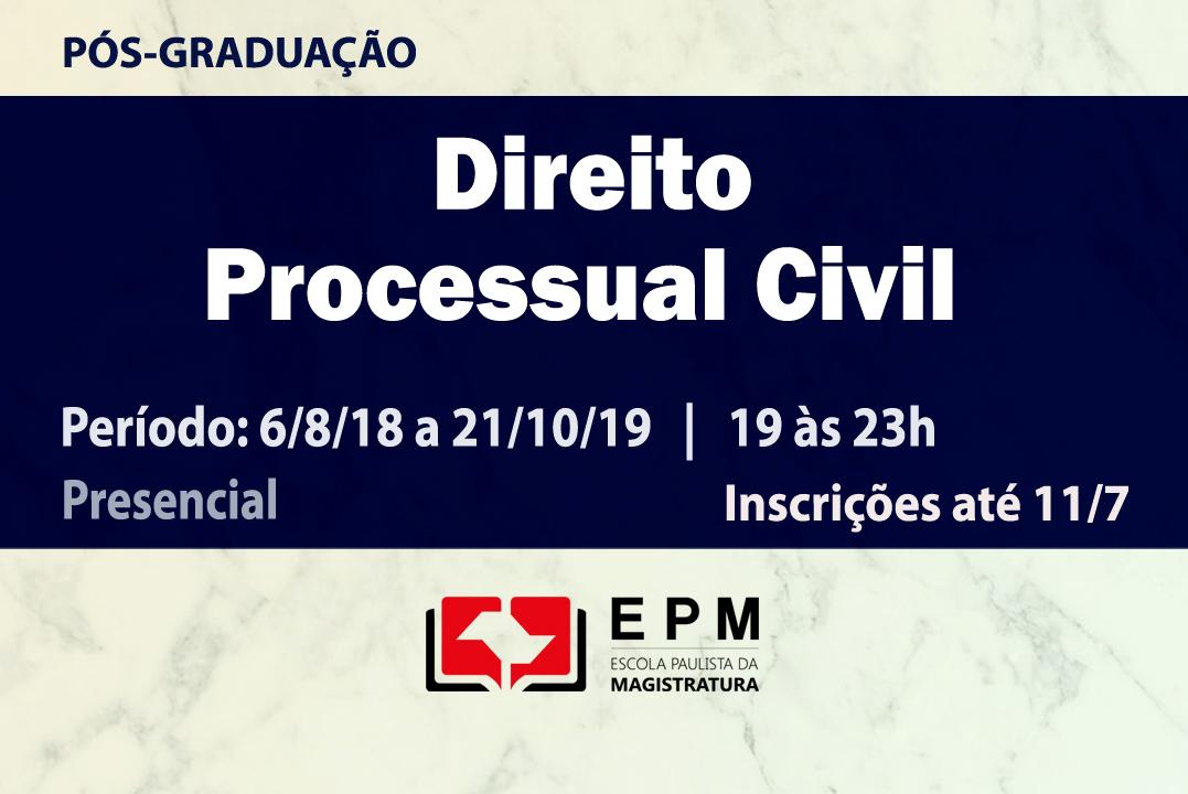EPM realizará para novo curso de especialização em Direito Processual Civil na Capital