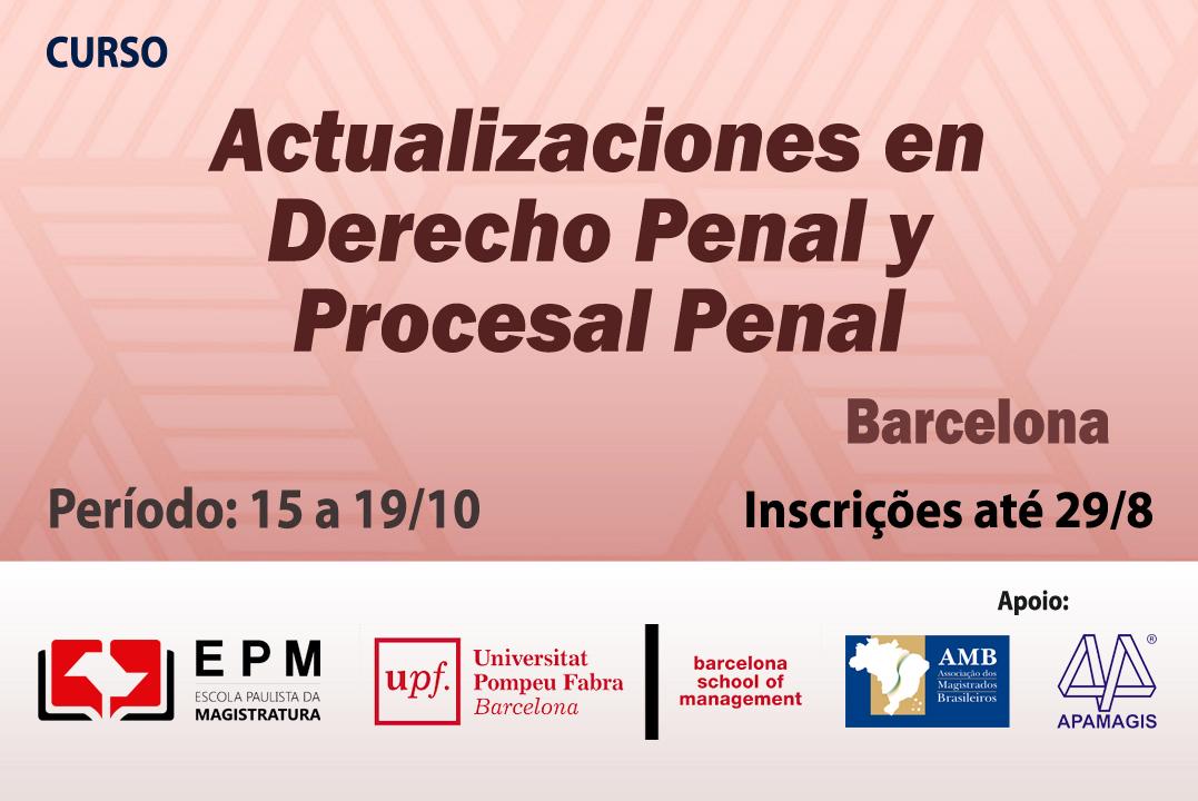 Inscrições abertas para o curso 'Actualizaciones en Derecho Penal y Procesal Penal'