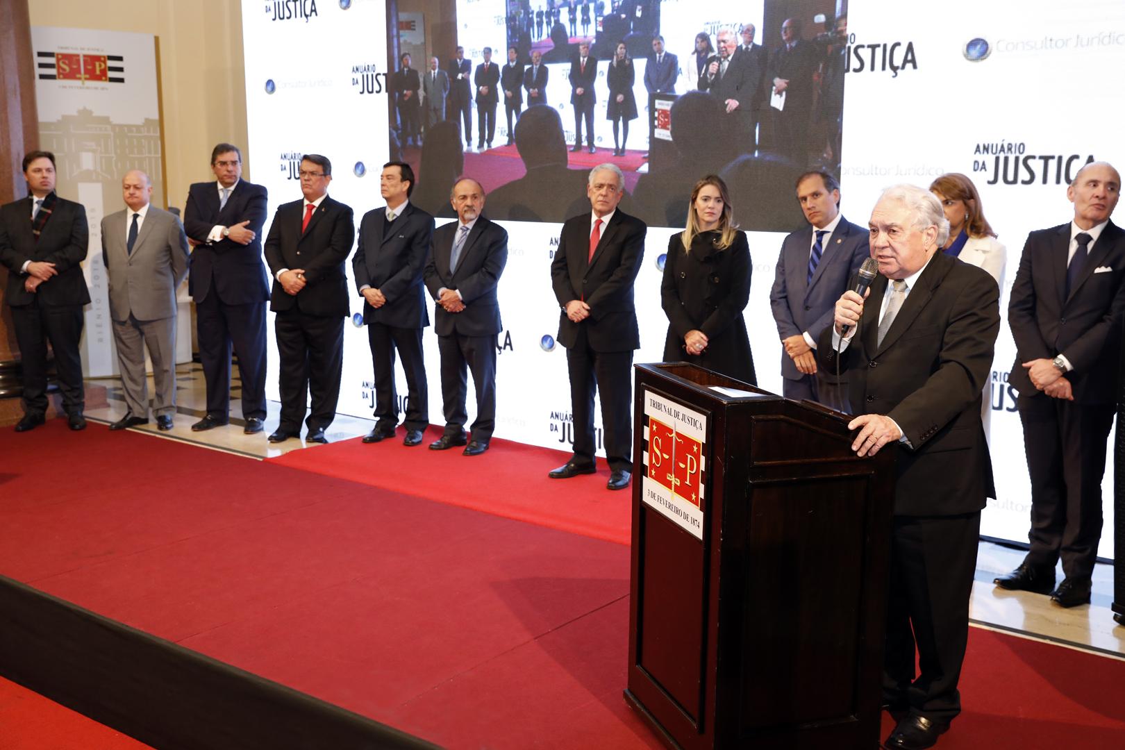 'Anuário da Justiça São Paulo 2018' é lançado no Palácio da Justiça
