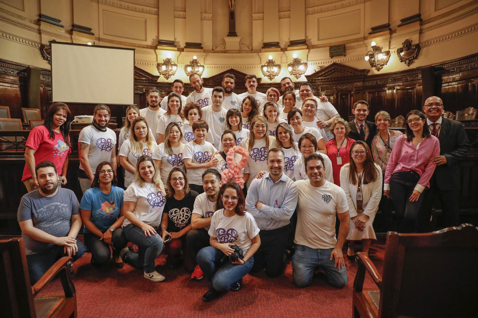 Corte Solidário: Palácio da Justiça sedia campanha do Outubro Rosa